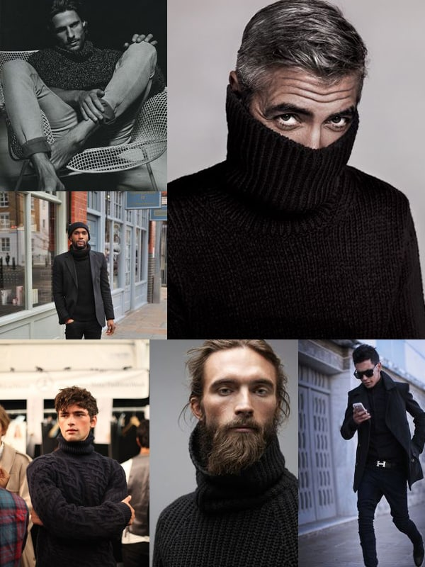 how to wear a turtleneck sweater mens