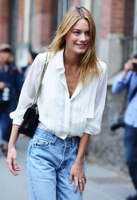 White Womens Oxford Shirt