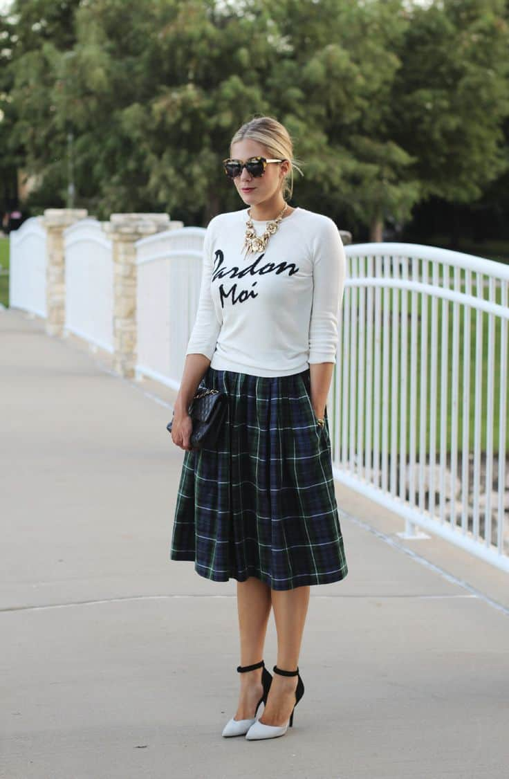 The Plaid Skirt And Its Many Faces The Fashion Tag Blog