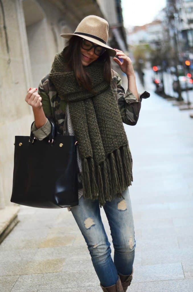Huge Scarves Fashion Week