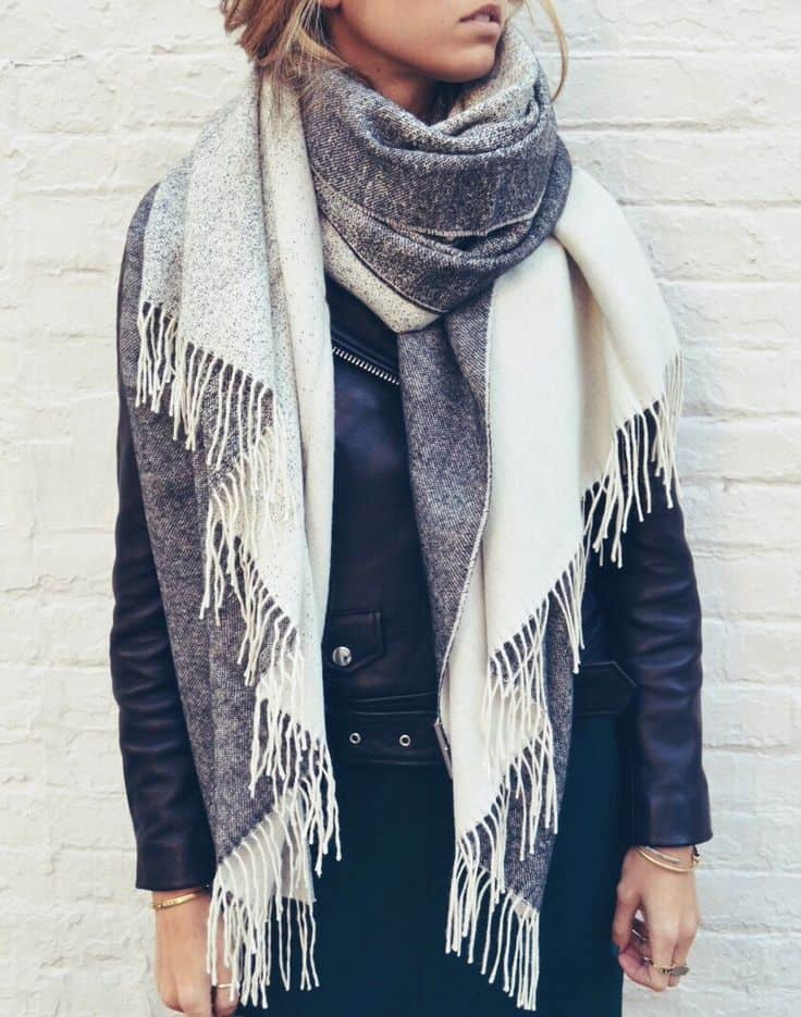 the oversized scarf trend alert fashion tag