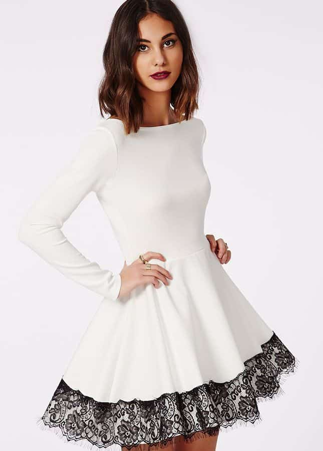 Black And White Christmas Party Dresses - Prom Dresses Cheap