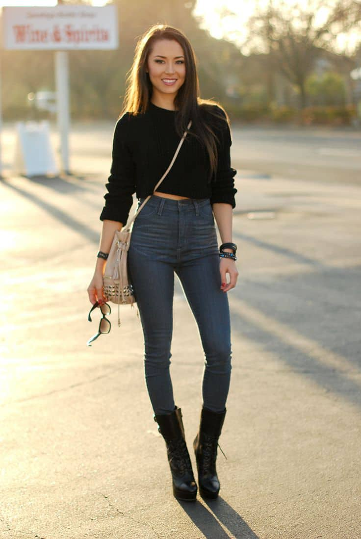 High waisted shorts summer outfit 2017