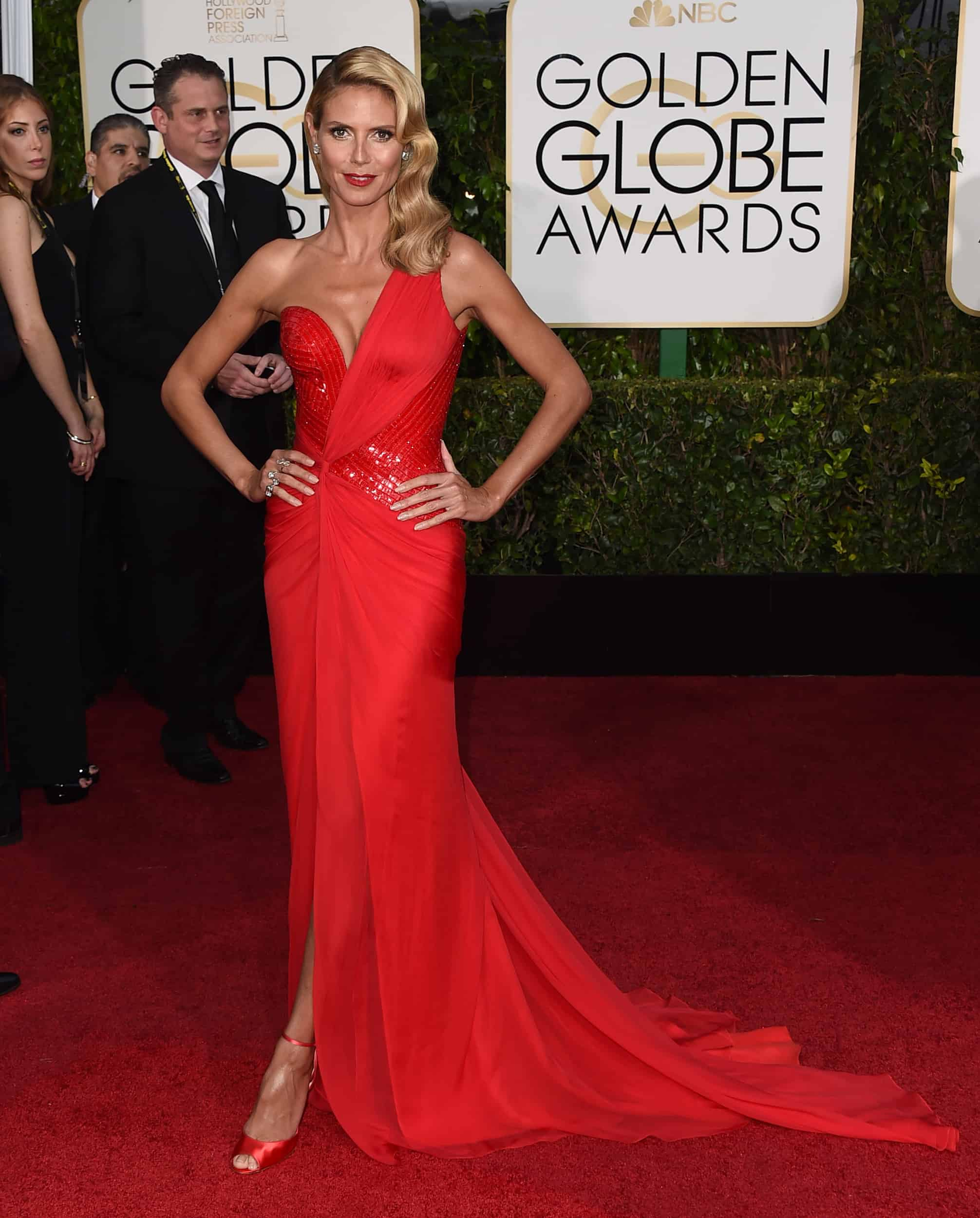 Heidi klum 2015 golden globes red carpet the fashion tag blog - Golden globes red carpet ...