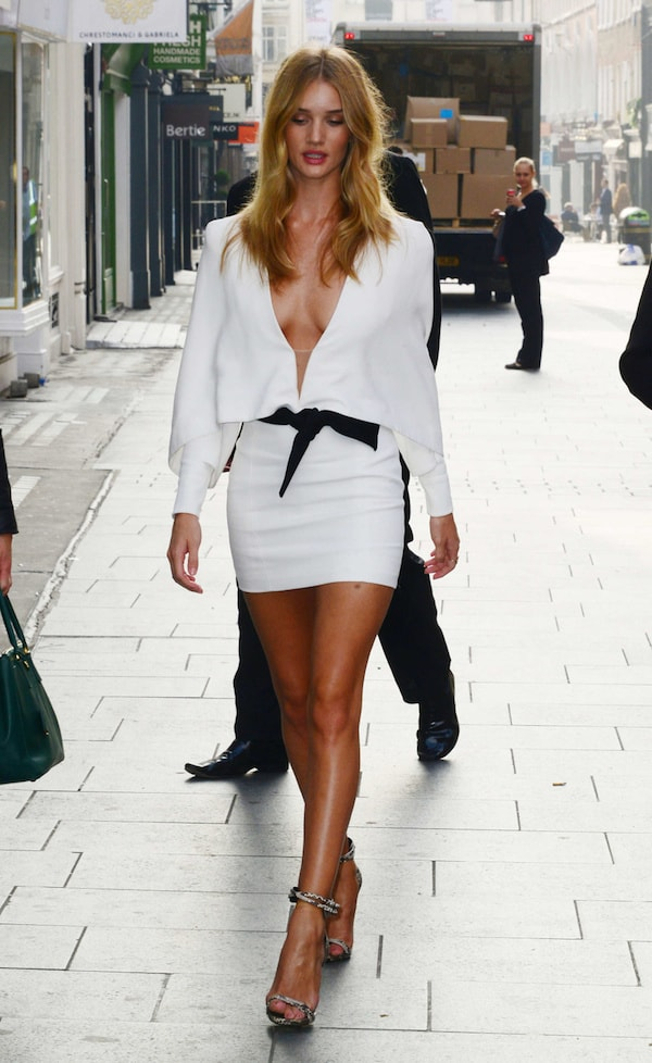 Rosie Huntington-Whiteley launches Coca Cola Life at the Coca Cola boutique in London, England