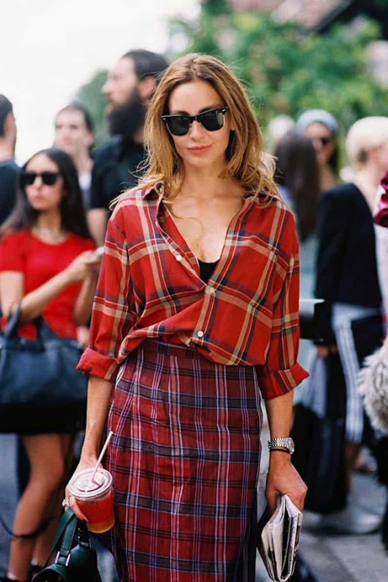 Plaid Trend 2015 Street Style The Fashion Tag Blog