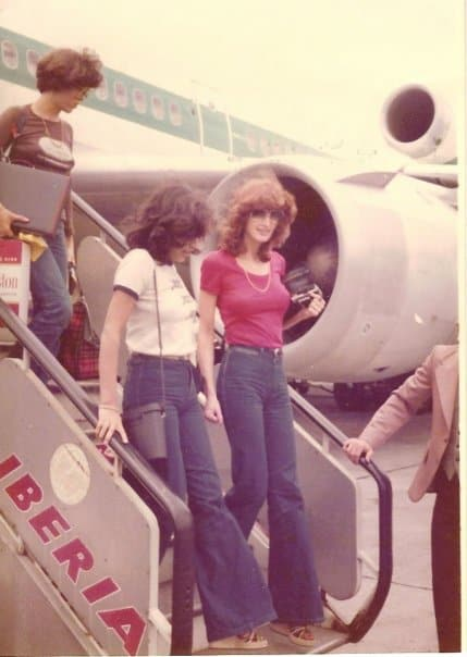 70s fashion flared jeans