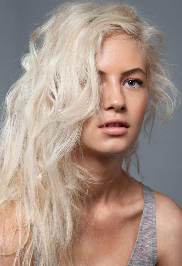 any platinum blonde shade (cold, warm, ice blonde, pinkish, ash blonde ...