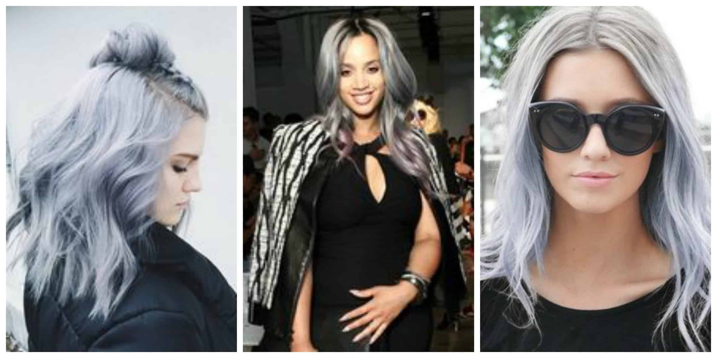 Grey Highlights Hair On Pinterest  Rachael Edwards