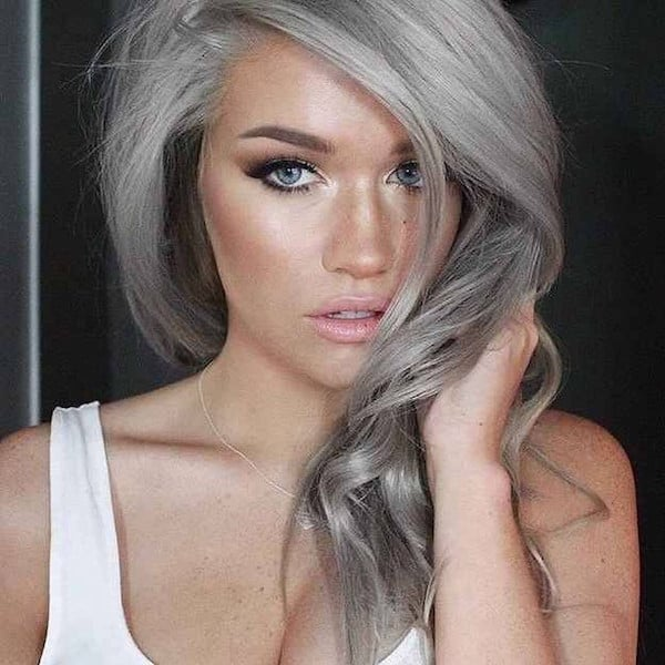 Stupendous Is Granny Hair Really The 1 Hair Trend Right Now Fashion Tag Blog Short Hairstyles Gunalazisus