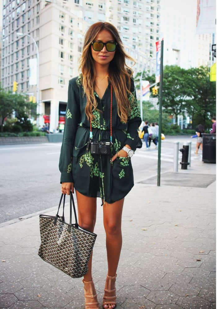 Street Style Green Outftis Spring Looks 11 The Fashion
