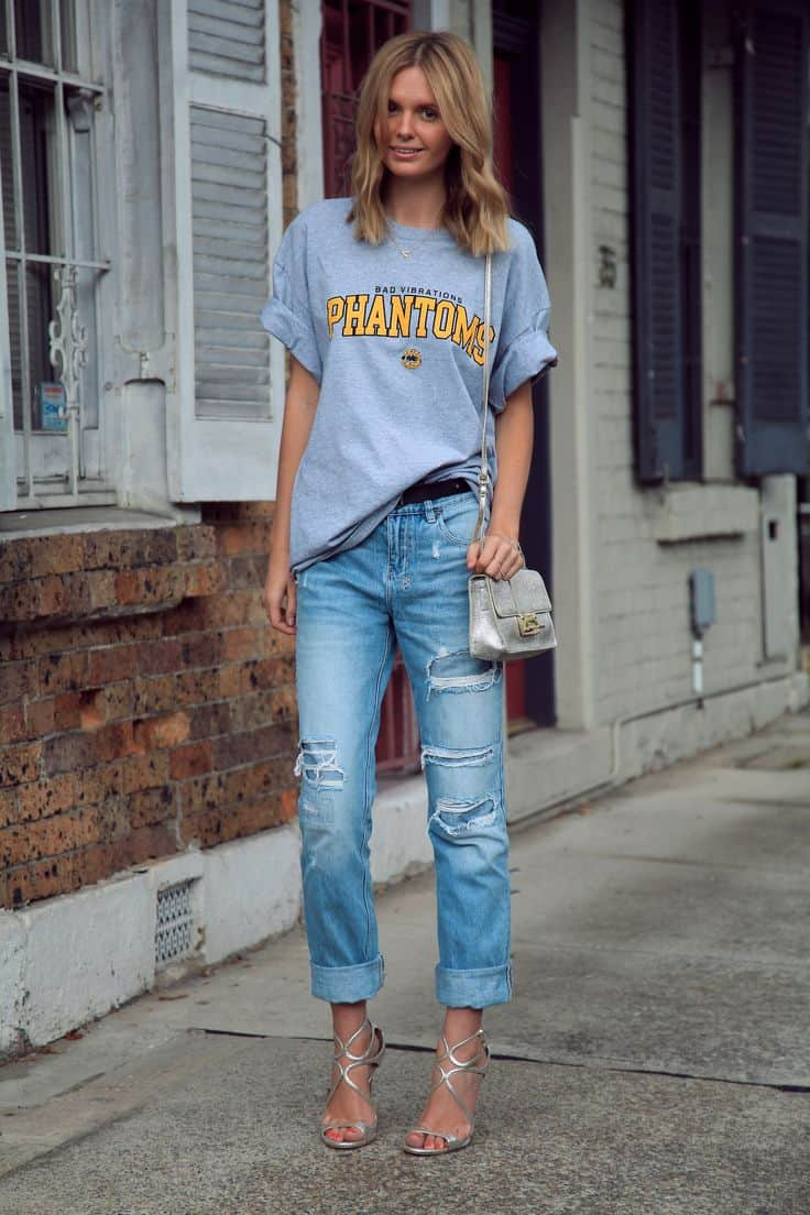 boyfriend t-shirts. 6 ways to make them look chic   fashion tag blog