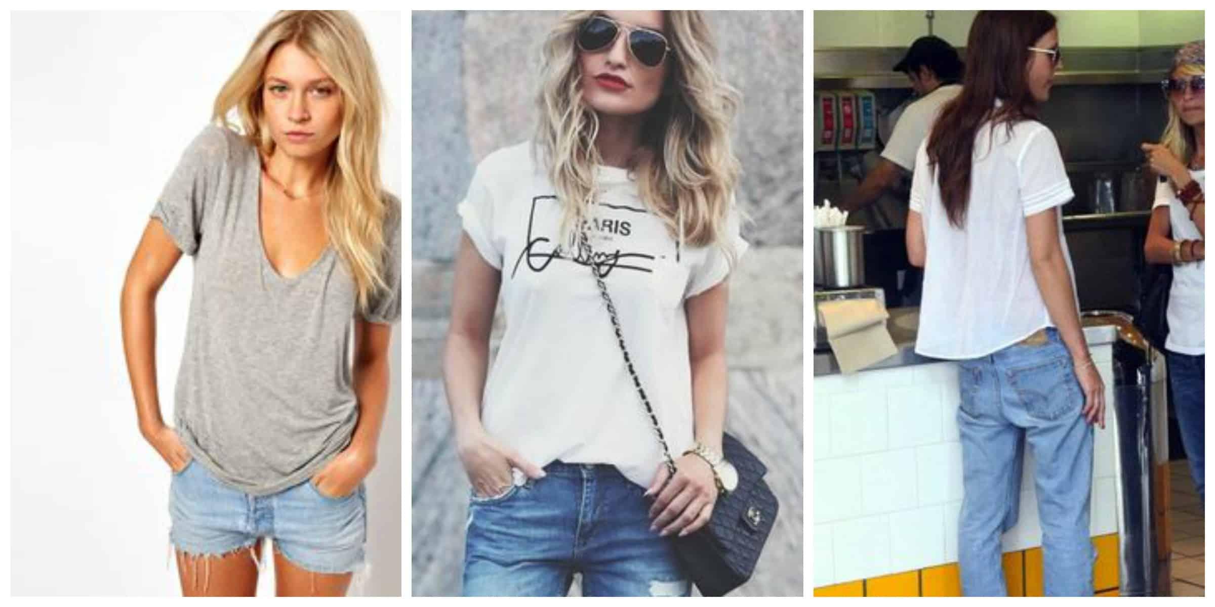 bc6f2e54 Boyfriend T-Shirts. 6 Ways to Make them Look Chic | Fashion Tag Blog