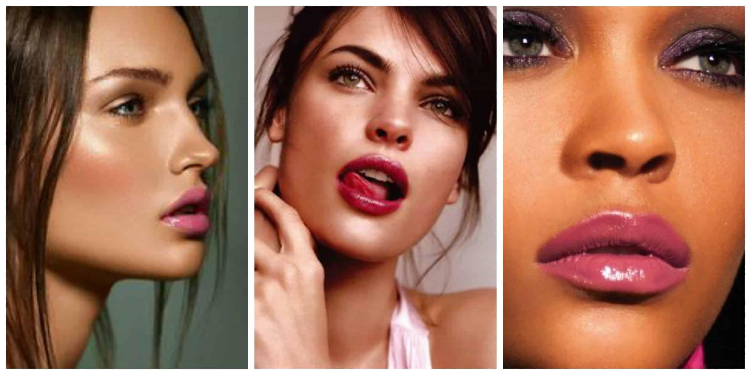 pink-glossy-lips