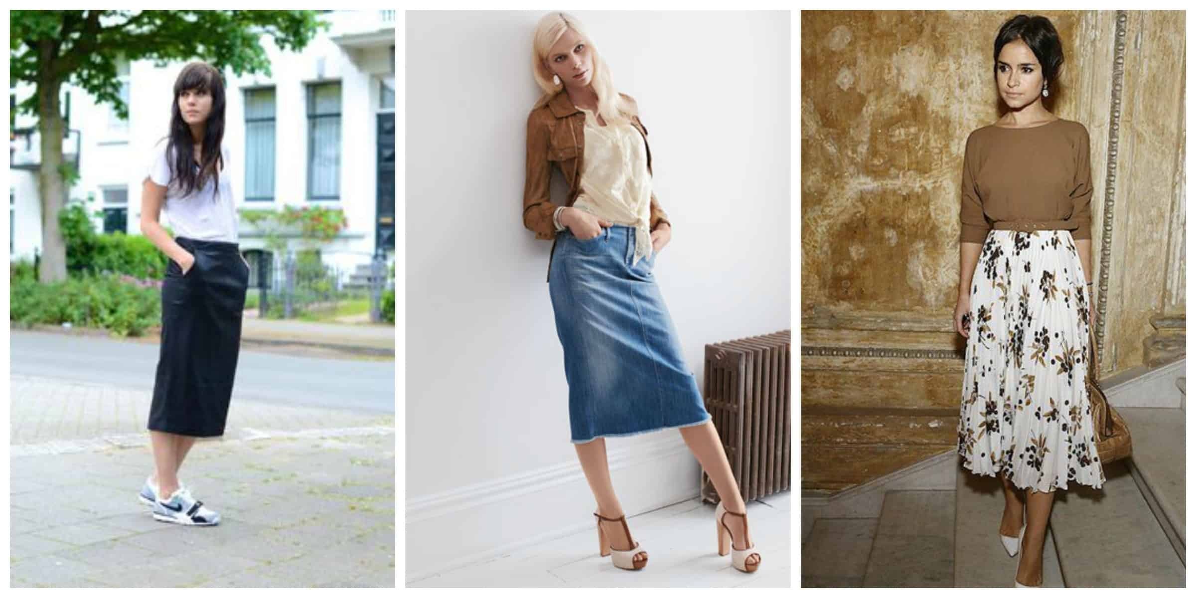 Skirts midi are in style for video