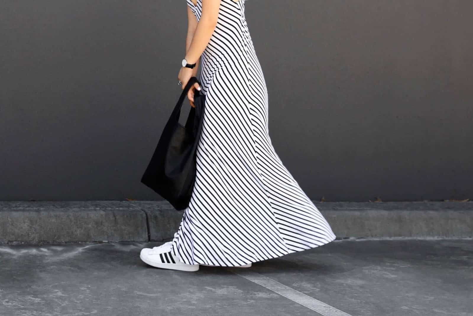 Adidas_superstars_striped_dress_streetstyle