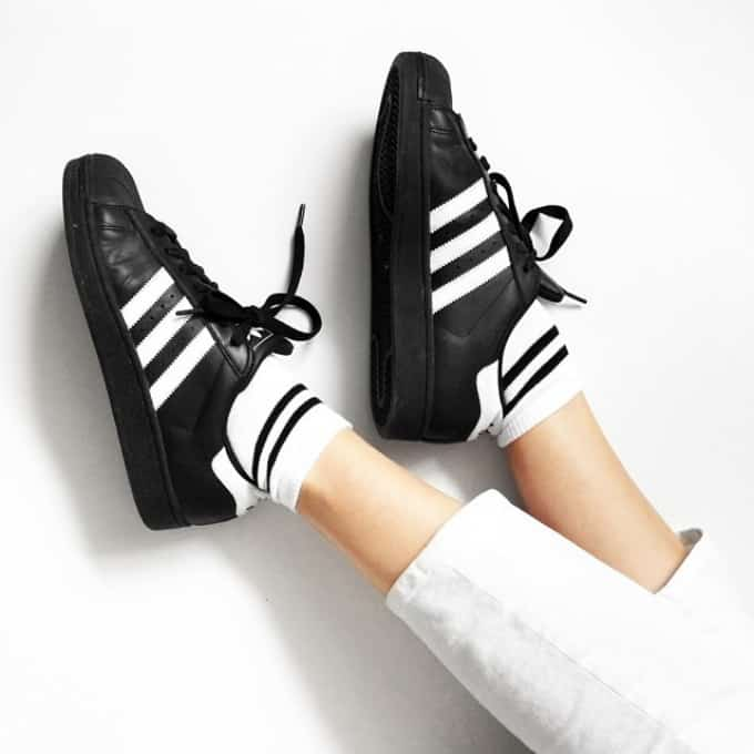 Adidas Superstar 80s (White & Core Black) End