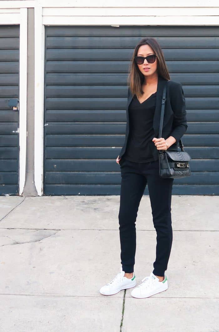 black adidas superstar fashion
