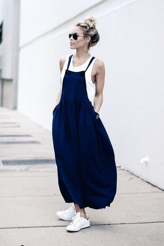 adidas slip on with dress