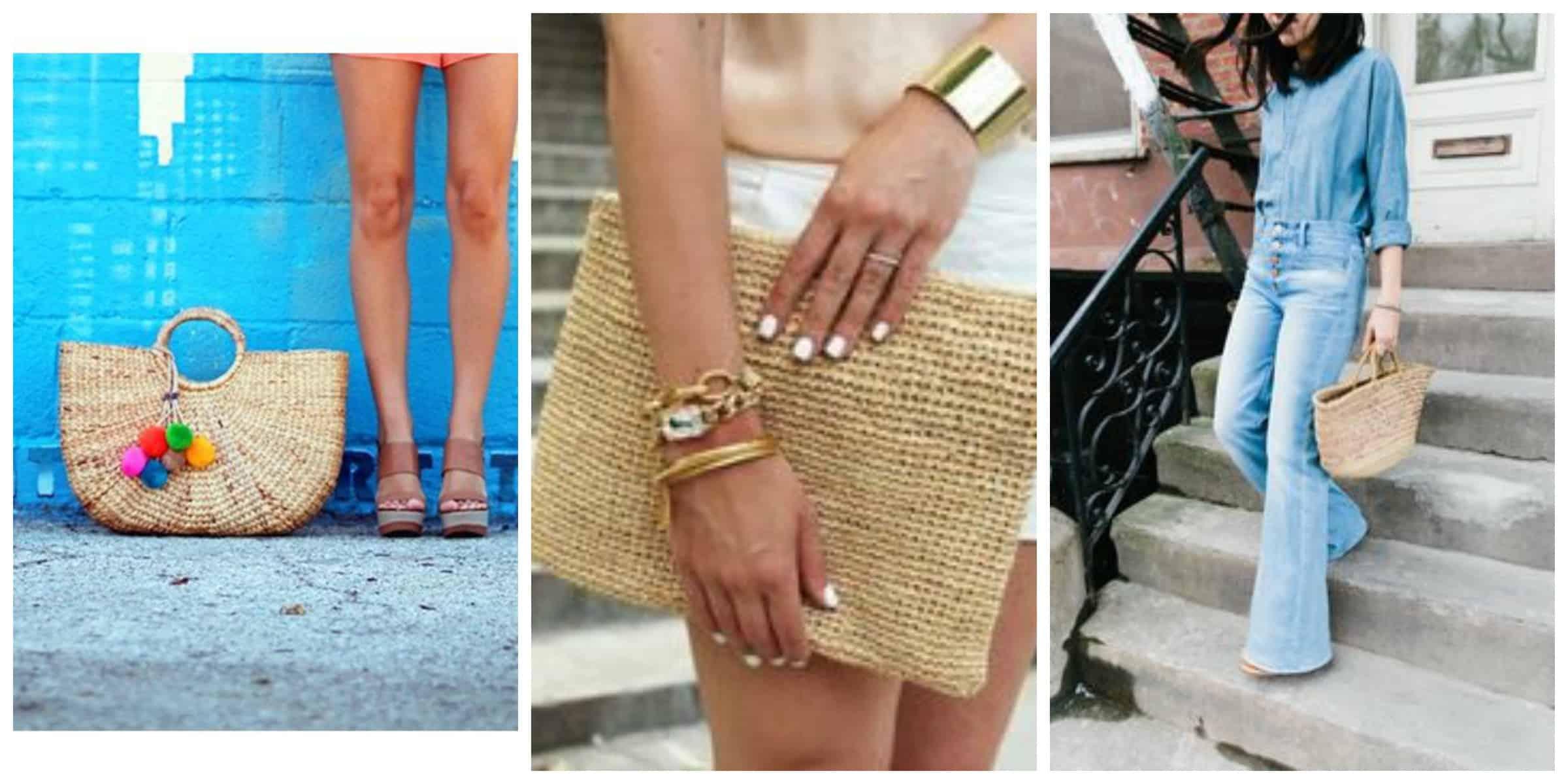 Соломенная сумка: новый тренд лета 2015