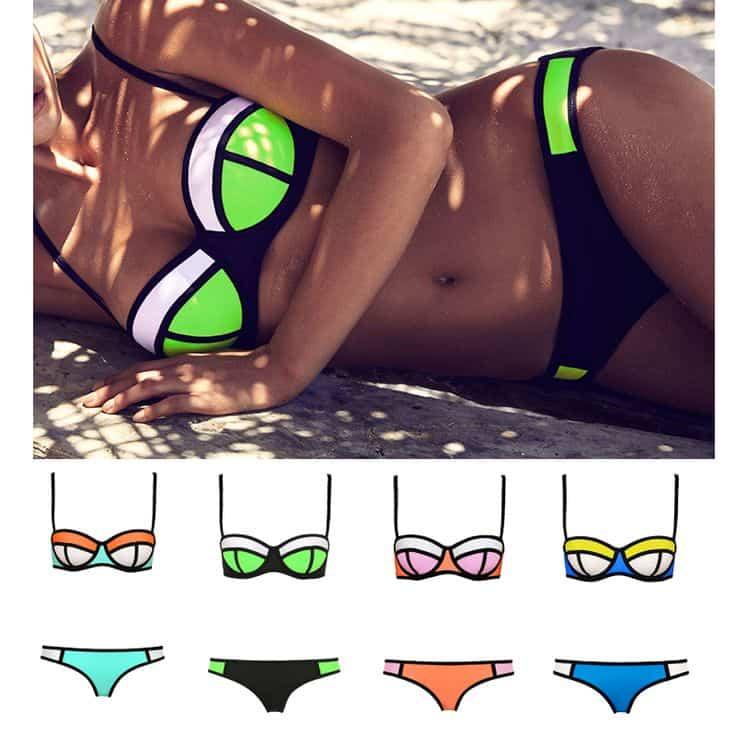 neon swimwear