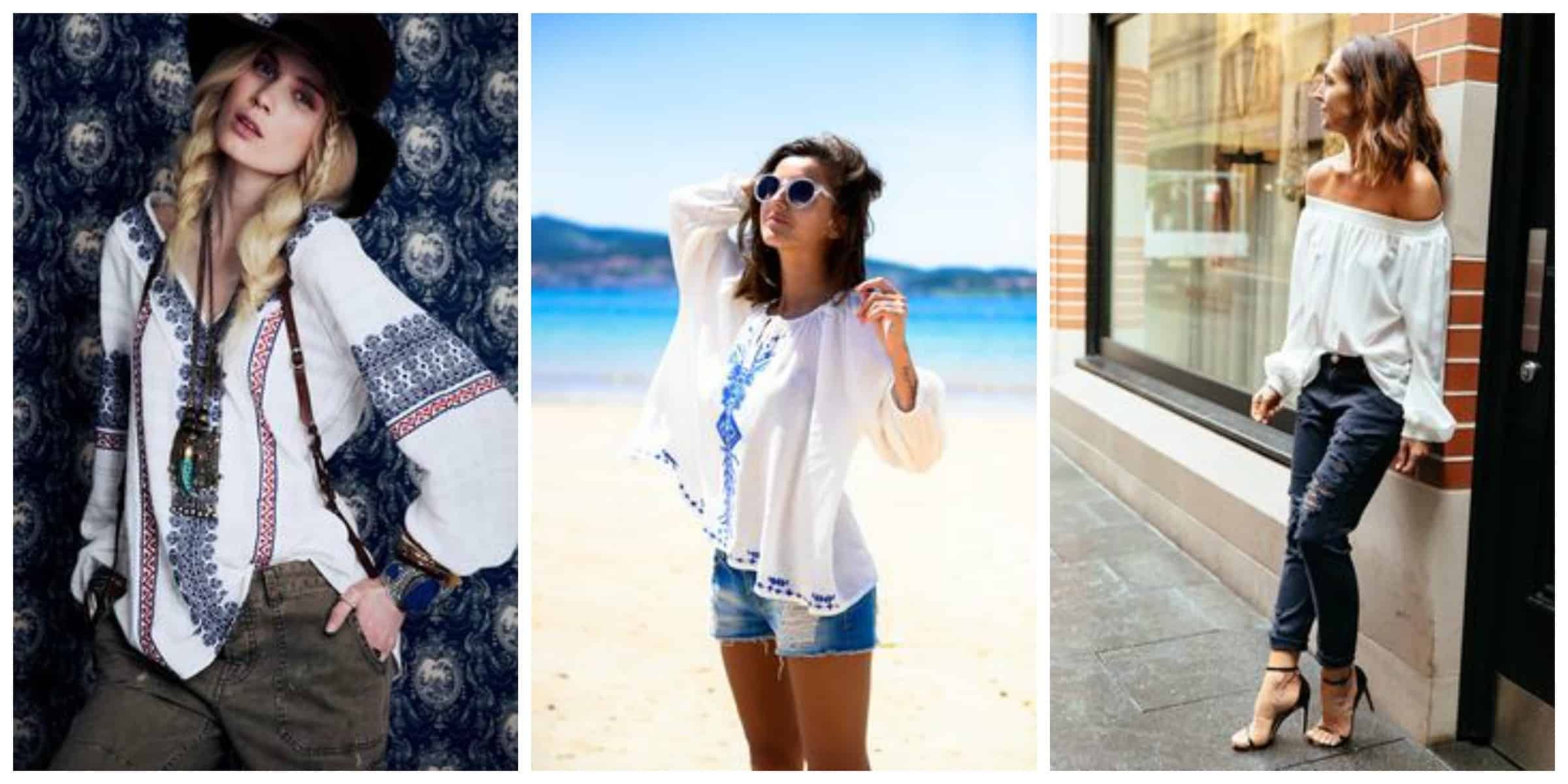 How to peasant wear tops in summer