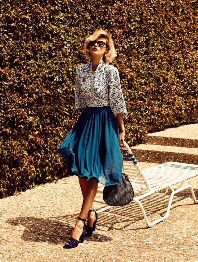летняя плиссированная юбка