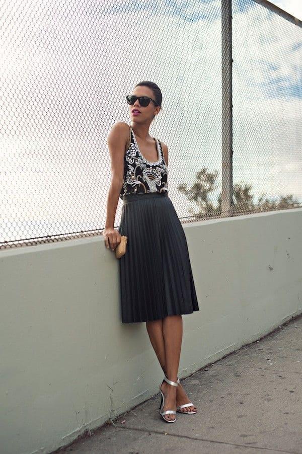 классическая плиссированная юбка