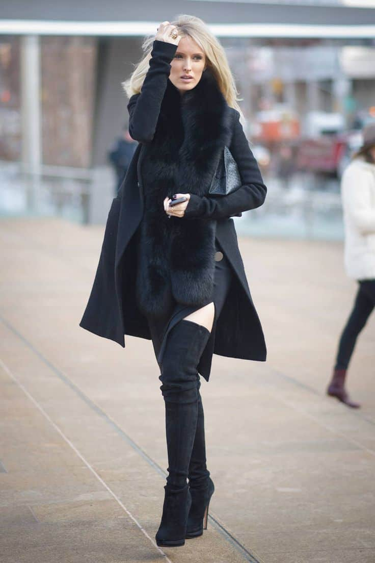 Thigh High Boots. 9 TIPS on How to Wear Them With Dresses. 9 TIPS | FashionTag Blog