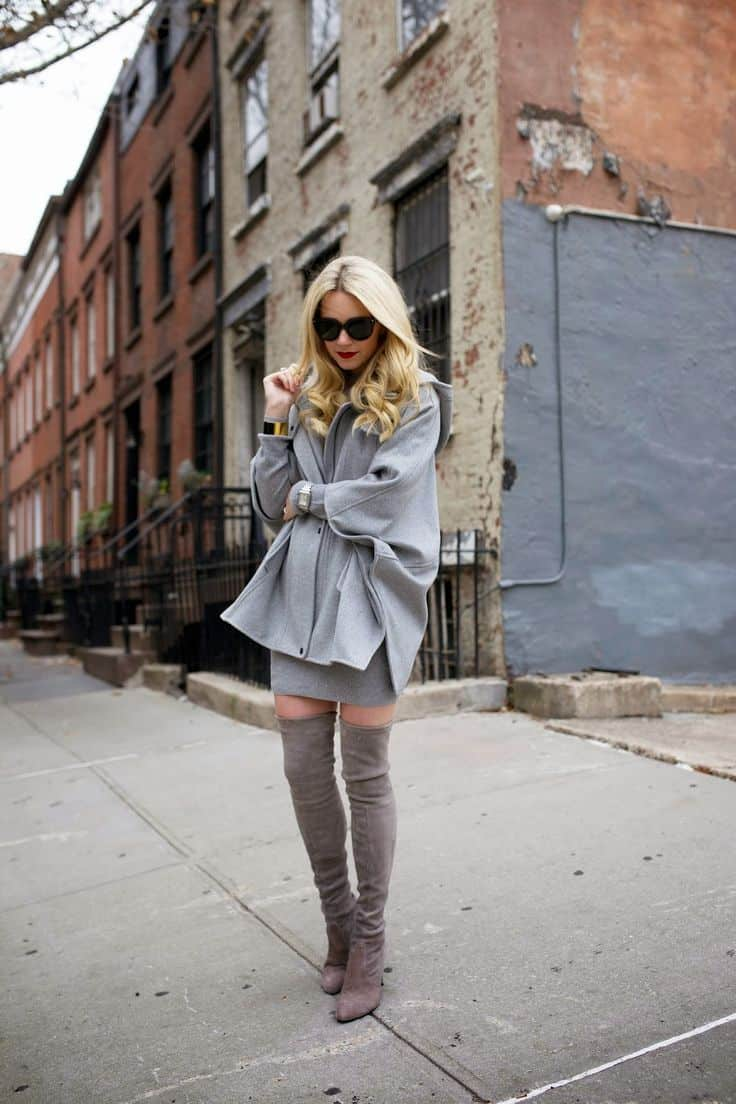 Thigh High Boots. How to Wear Them With Dresses