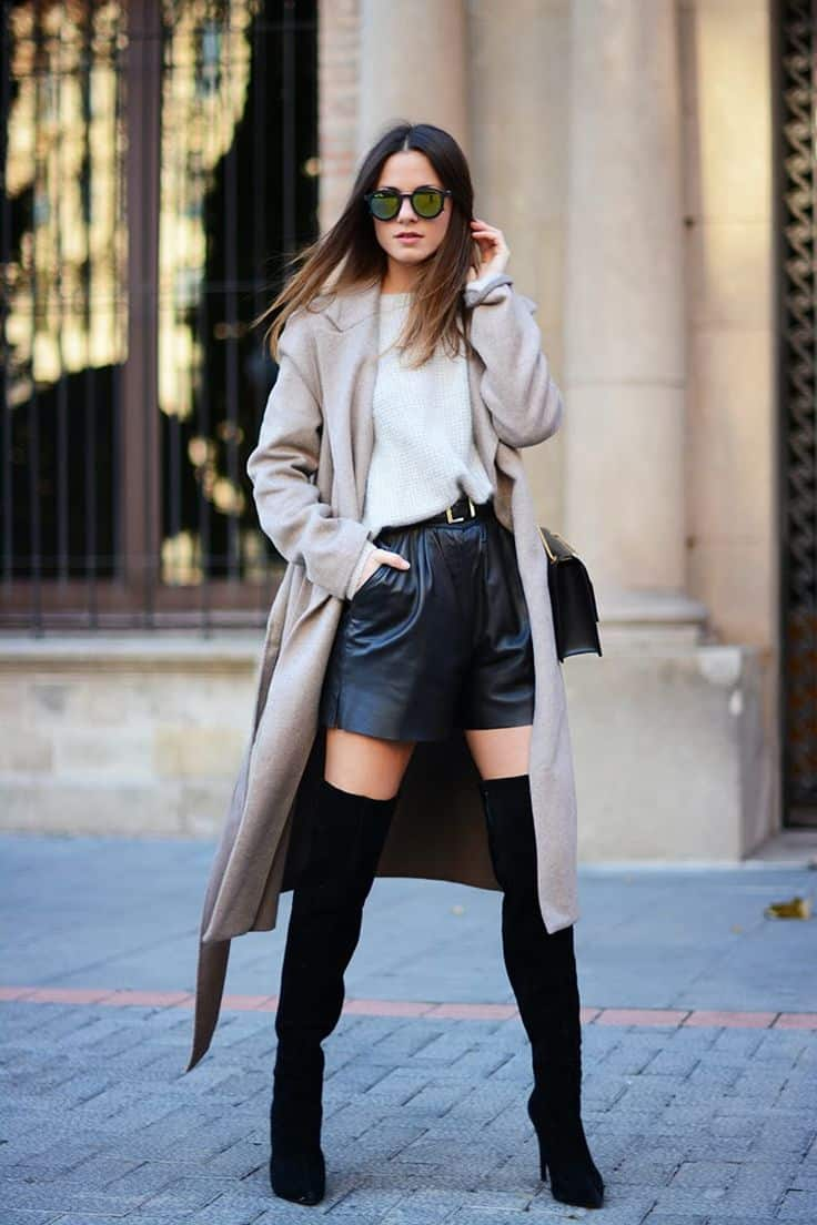 9 TIPS: How To Wear Thigh-High-Boots With Dresses?