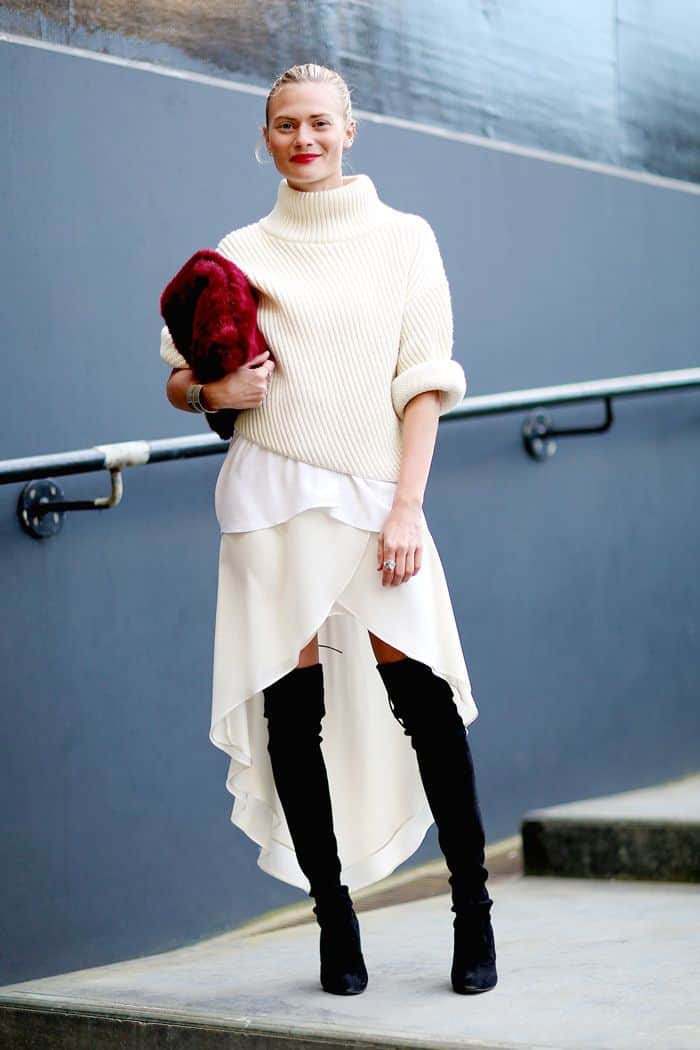 Thigh High Boots. How to Wear Them With Dresses | FashionTag Blog
