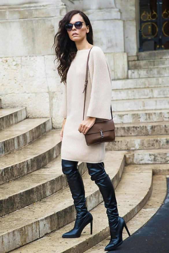 Thigh High Boots. 9 TIPS on How to Wear Them With Dresses ...