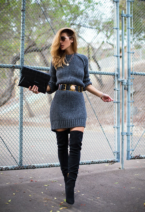 02368fa5e768b Thigh High Boots. How to Wear Them With Dresses