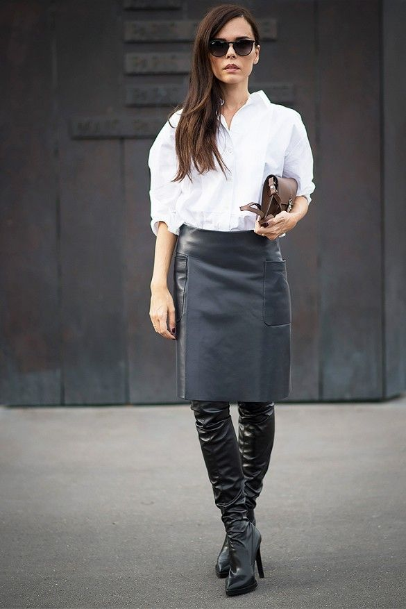 thigh high boots and skirts trend 1 the fashion tag