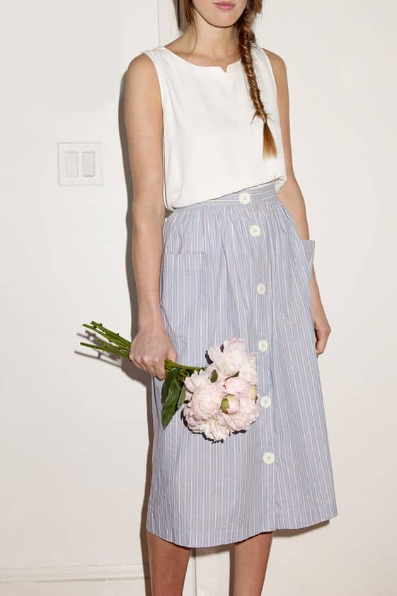 the button skirt the fashion tag