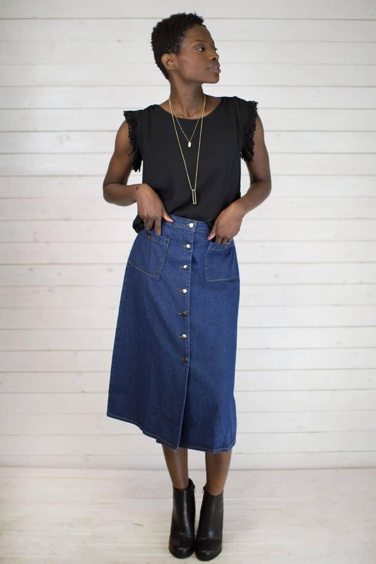 button-down-midi-skirts-trend-4