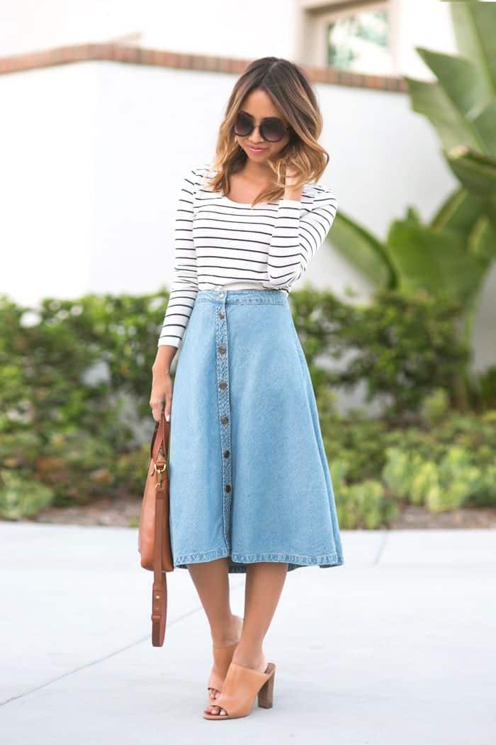button-down-midi-skirts-trend-7