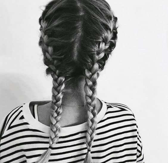 Two french braids with extensions tumblr