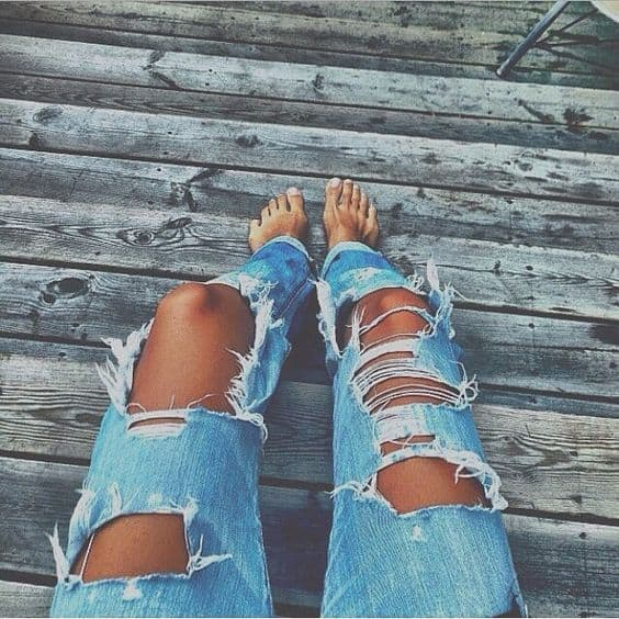 best distressed jeans womens