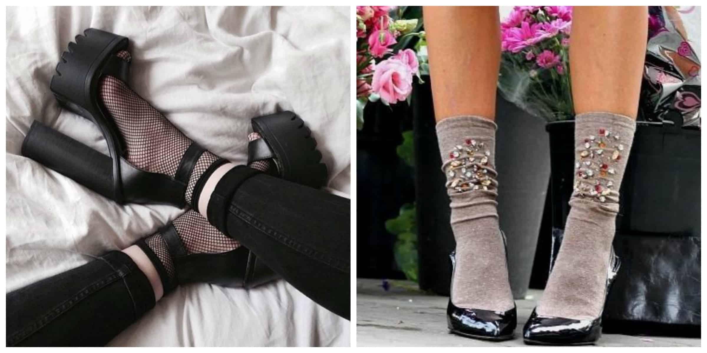 socks-and-heel-shoes