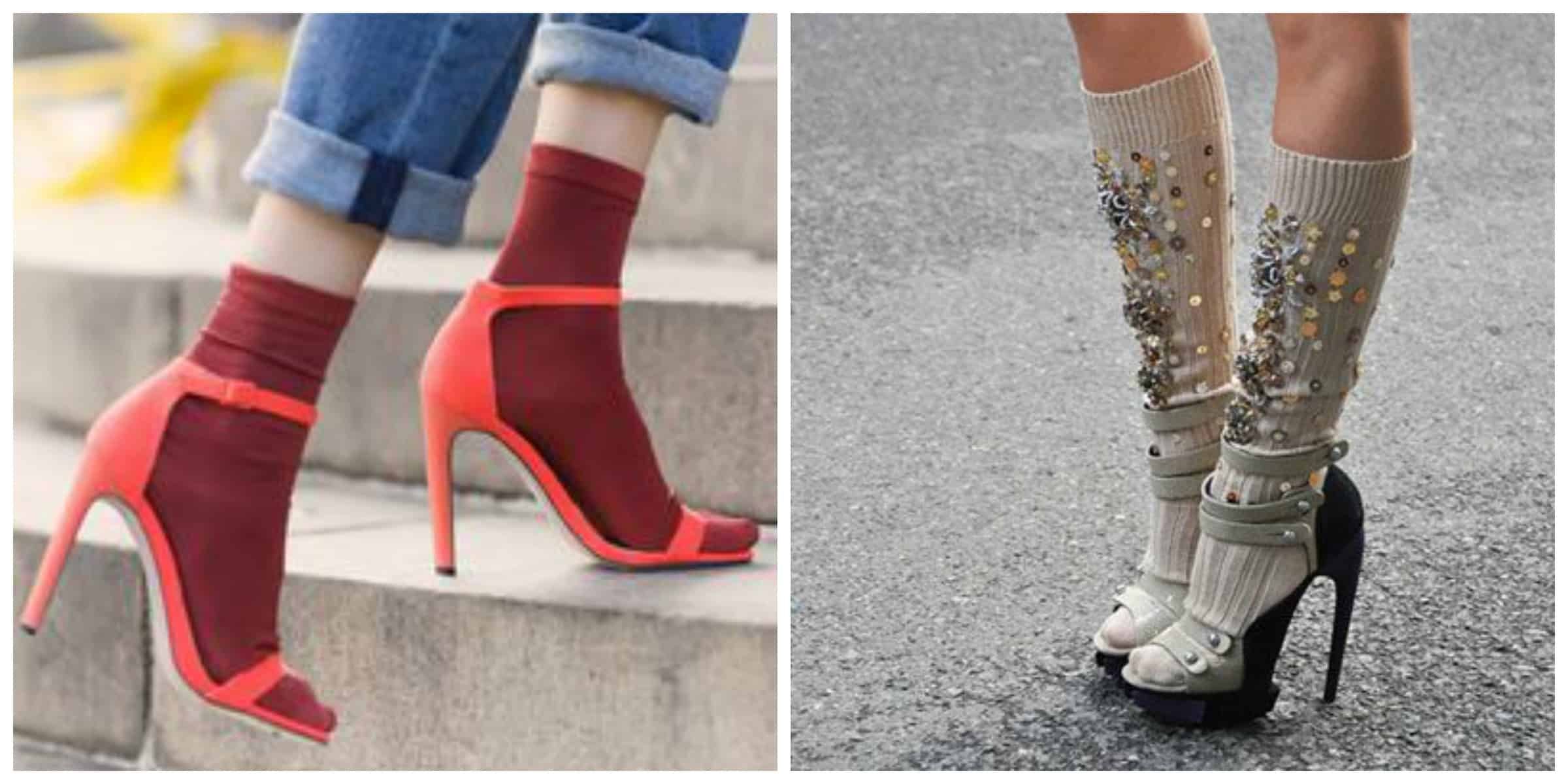 trend alert heels amp socks the fashion tag blog