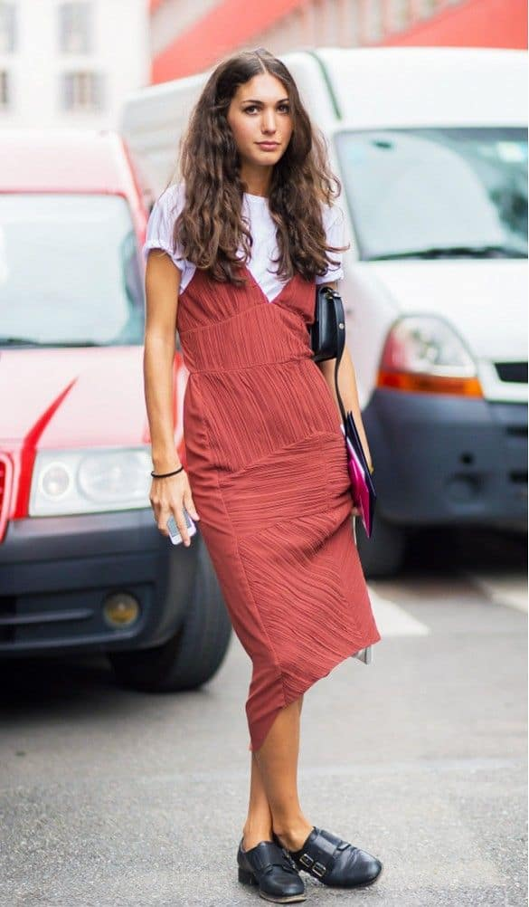 Slip Dresses Over T Shirts Look 2