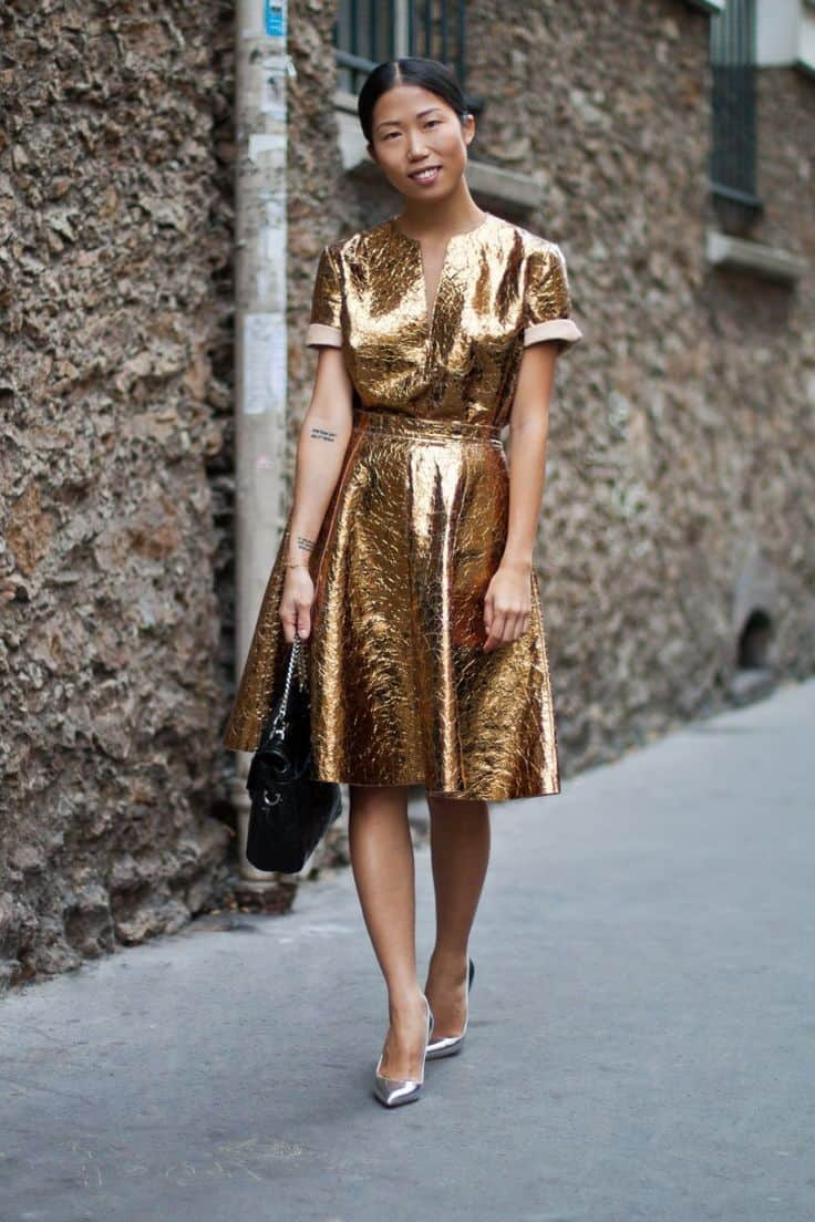 chic-gold-metallic-dress