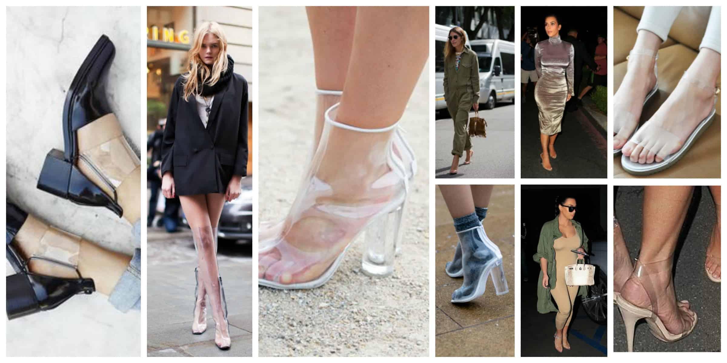 clear shoe