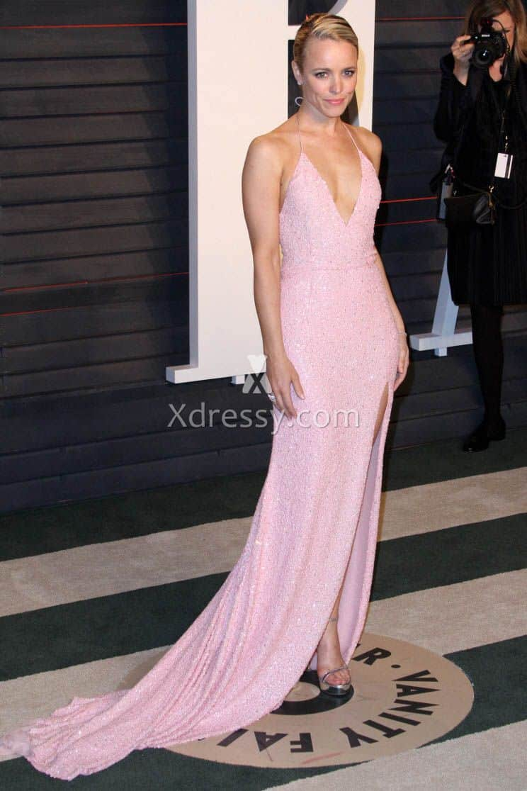 rachel-mcadams-sequin-pink-backless-celebrity-evening-prom-dress-oscars-2016-1