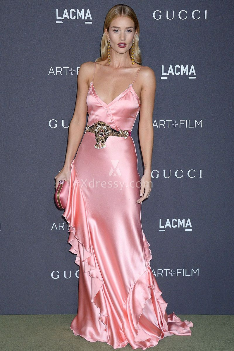 rosie-huntington-whiteley-pretty-pink-ruffled-evening-prom-dress-lacma-2016-1