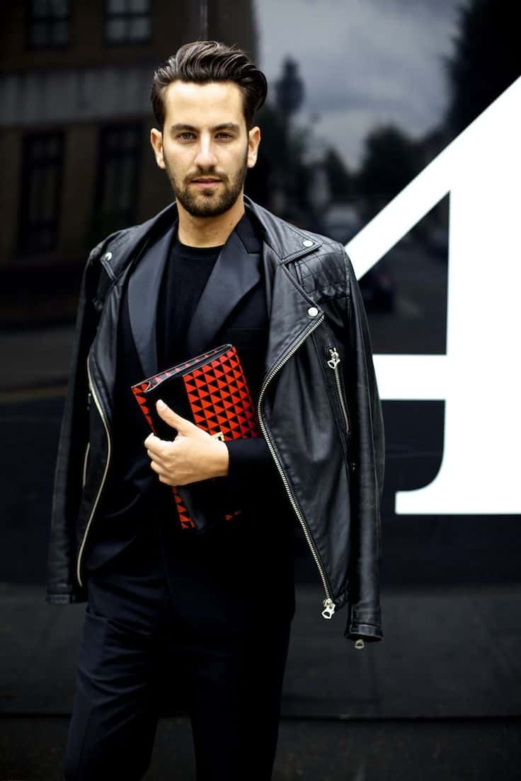 Leather jacket street style - Leather Jackets For Men How To Wear Them In 2017 Spring The Fashion Tag Blog