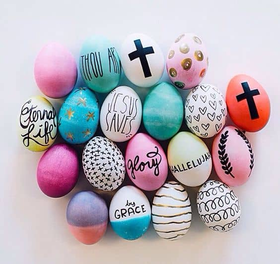 Easter egg styles diy ideas the fashion tag blog for Easter egg ideas