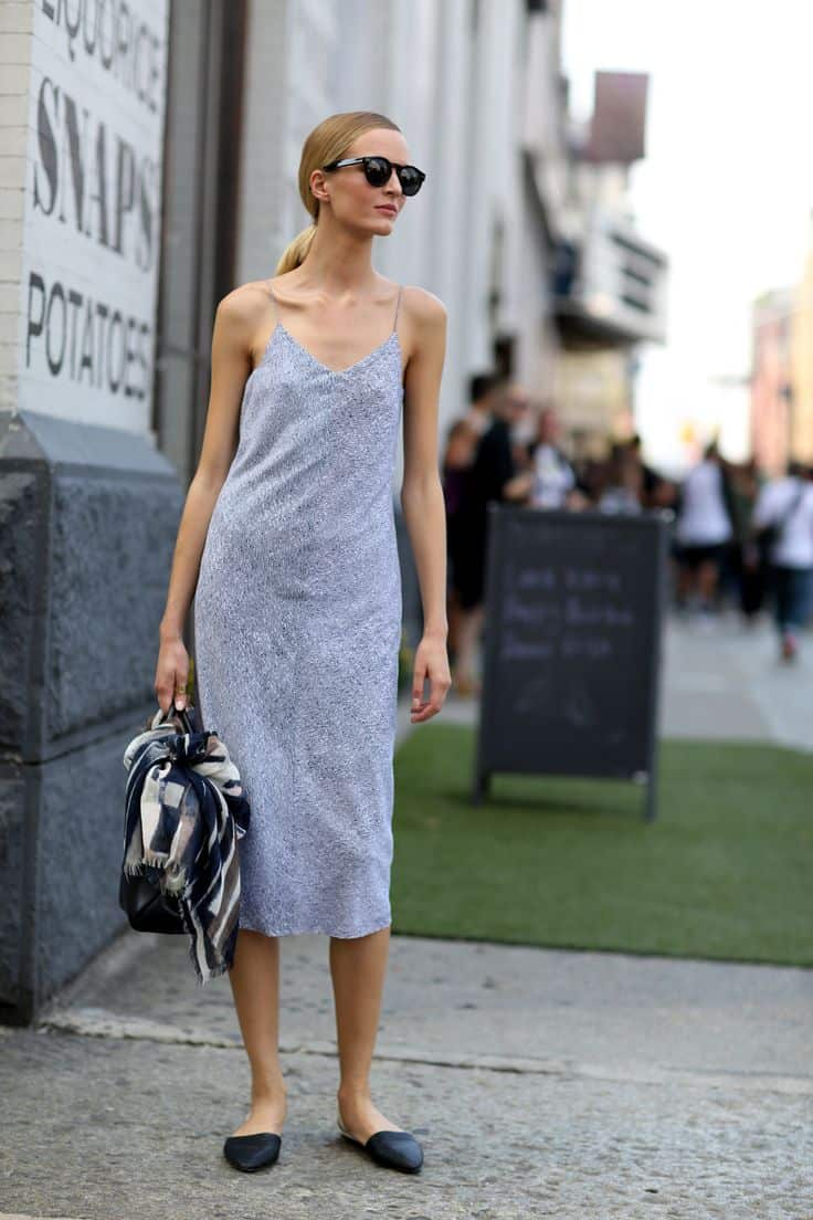 Slip Dress Outfits Summer Street Style 13